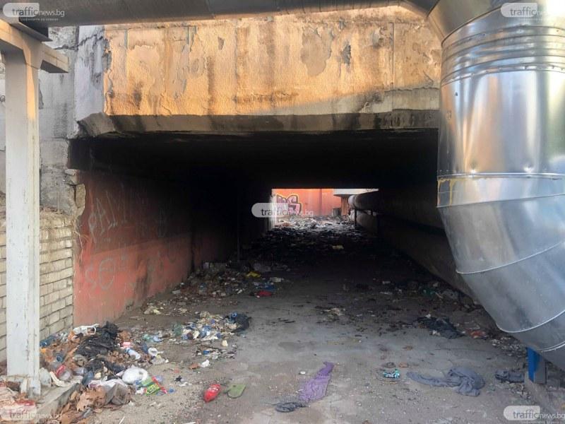 Сюжет по Стивън Кинг: Да преминеш през този подлез в Пловдив, не е за хора със слаби нерви СНИМКИ