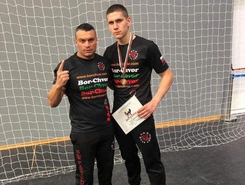 Каратист от Садово стана шампион и в кик бокса СНИМКИ