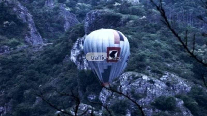 Балон за летене се заклещи край село Устина