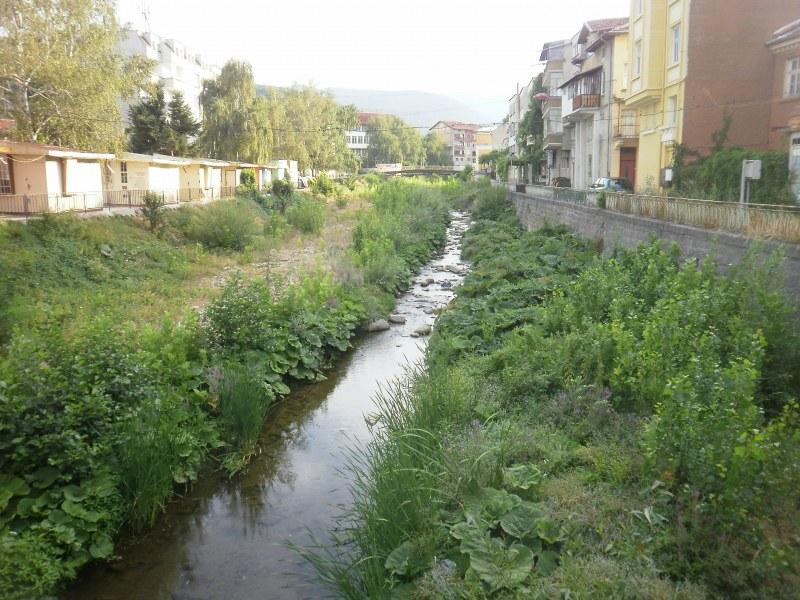 Стара река тече тъмносиня и с лоша миризма край Ново село