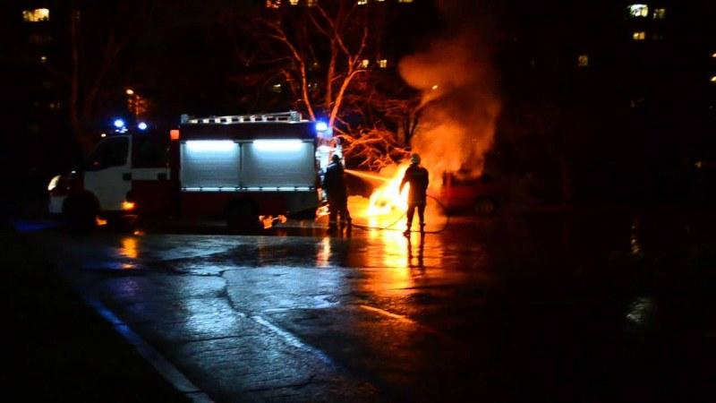 Пожар изпепели автомобил в Тракия