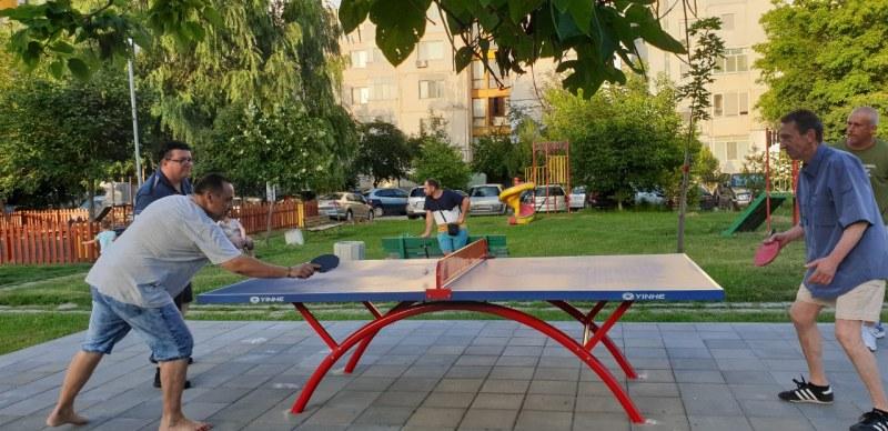 3 тенис маси на открито очакват спортуващите в Кършияка, ще има още 7