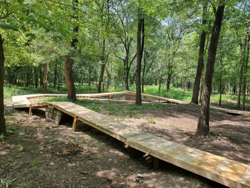 Обновиха рампата за колоездачи в парк Лаута