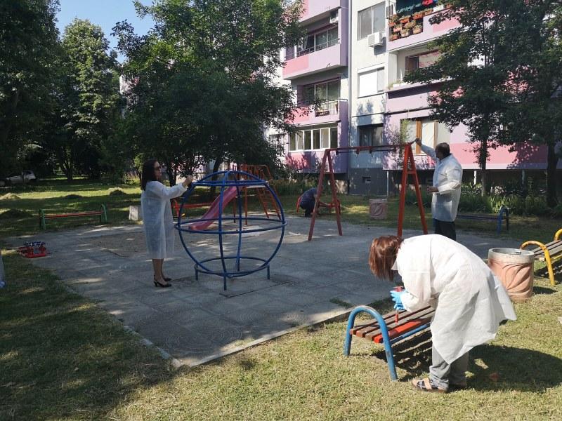 """Площадка в квартал """"Гагарин"""" радва хората обновена"""