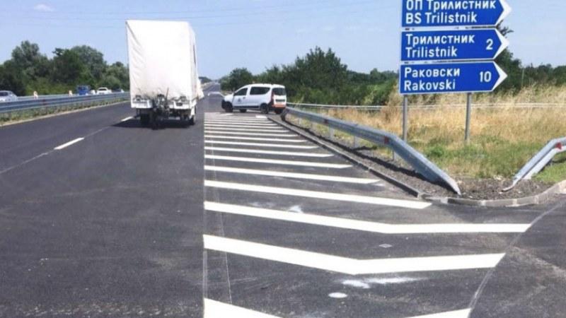 Ограничено движението по магистралата край Войводиново и Раковски