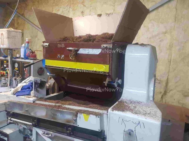 Разбиха цех за рязане на контрабанден тютюн в село Труд