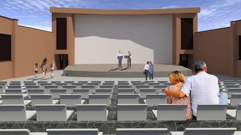 Готов е проектът на Лятното кино в Стамболийски, 3Д визуализация показва как ще изглежда
