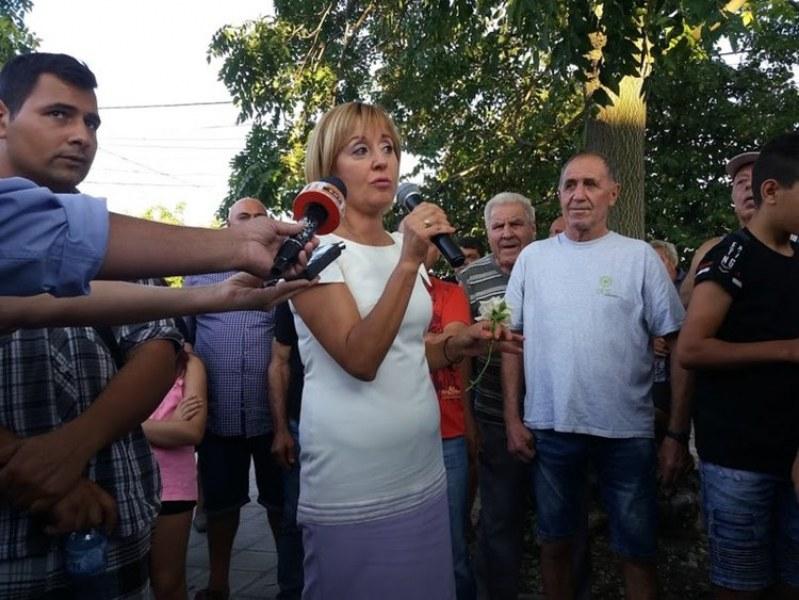 Мая Манолова успокои свиневъдите в Първомайско, протестът се прекрати
