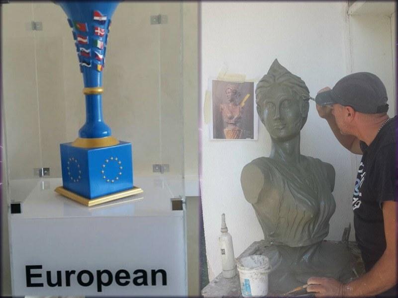 "Модерна светеща арт инсталация ""Ваза Европа"" грейва на Гребната база"