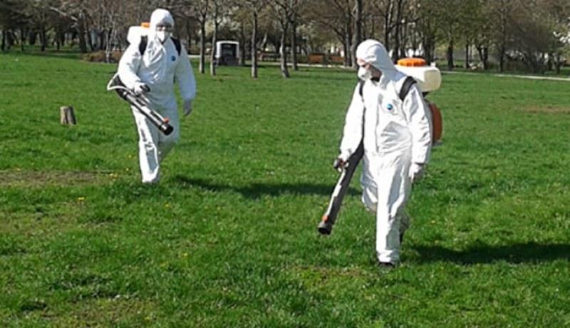 Пръскат срещу комари, пълзящи насекоми и кърлежи по зелените площи в Хисаря