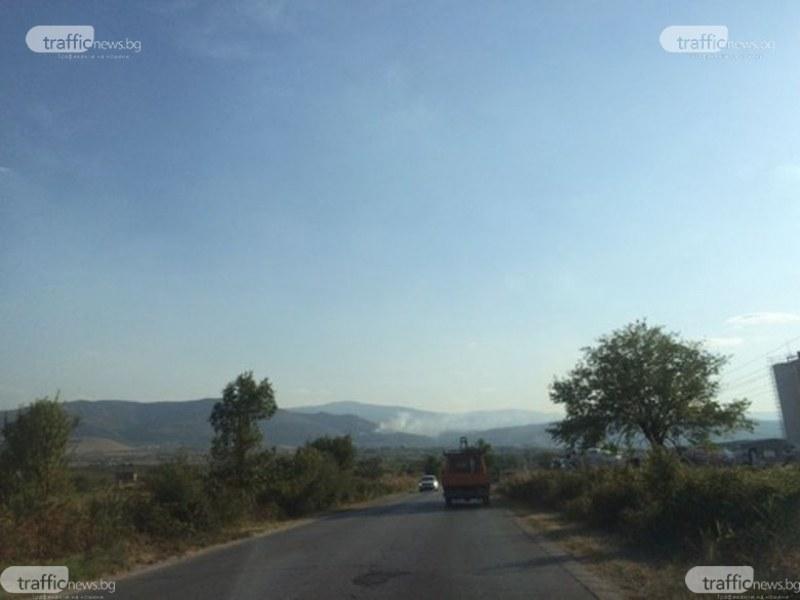 Пожар бушува над Марково, запали се гориста местност