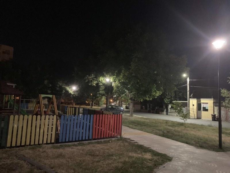 """Нови две места в пловдивския район """"Южен"""" грейнаха с ново осветление"""