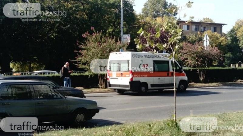 Джип удари дете на пешеходна пътека в Кършияка, линейка го откара в болница
