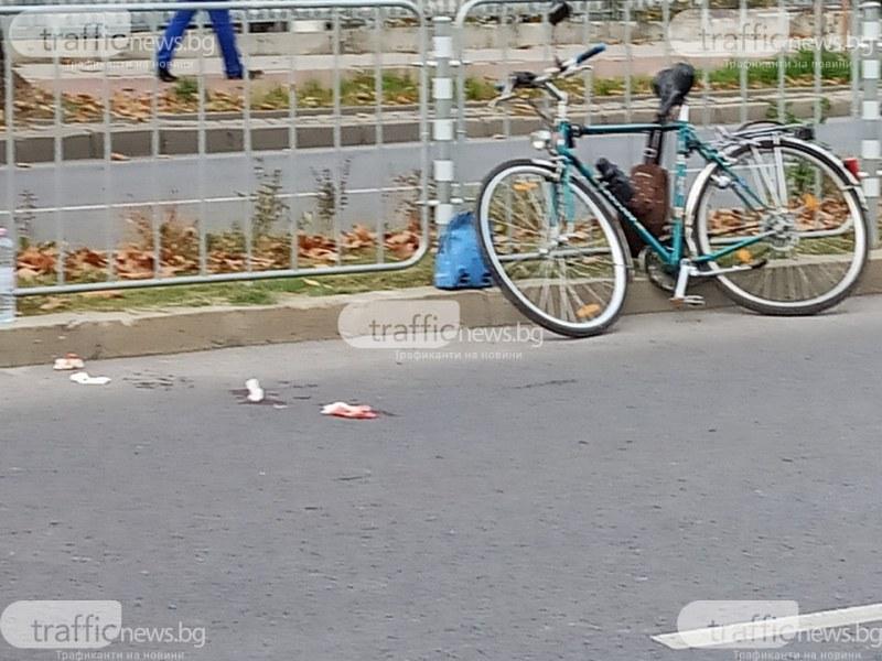 Мотор помете пийнал велосипедист в центъра на Пловдив