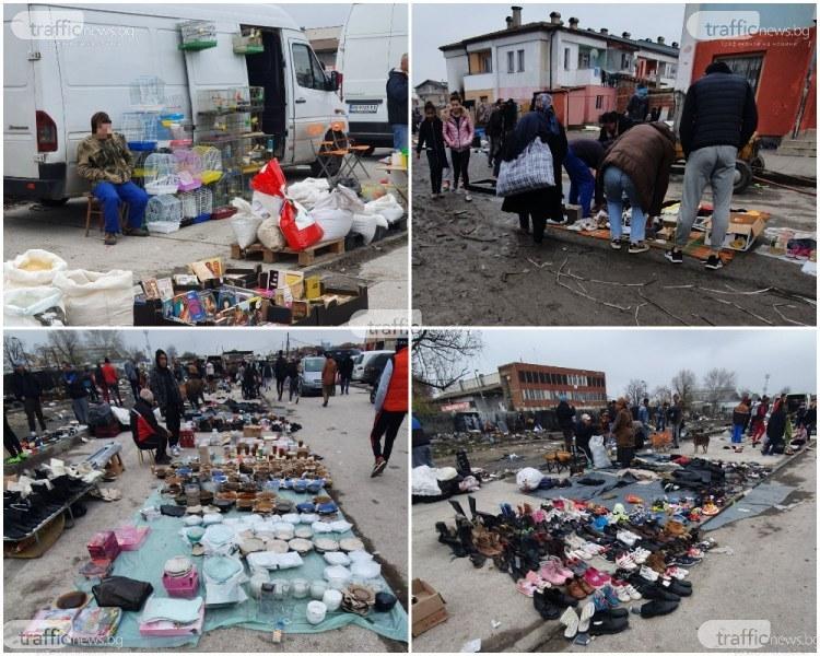 Руският пазар в Пловдив – в студ и пек, в дълбока кал търговците са там, извадили всичко, което може да се продаде