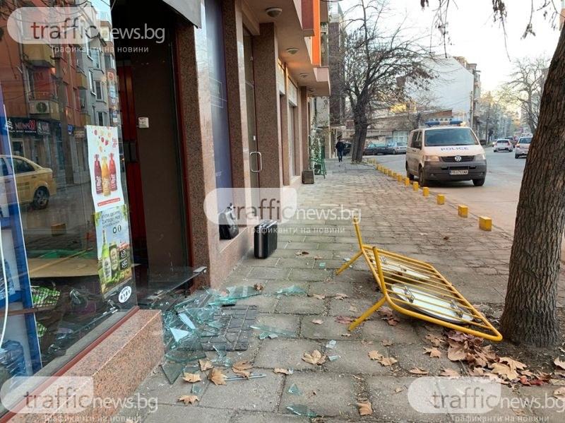35-годишен е арестуваният за разбиването на денонощния магазин в центъра на Пловдив