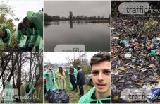 Младеж от Първомай събра приятели, почистиха заедно мизерията край Марица