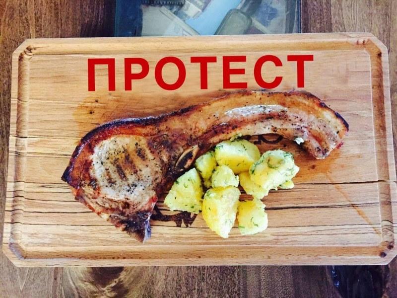 """Ресторантите в Пловдив ще сервират на клиентите върху подложки с надпис """"ПРОТЕСТ"""""""