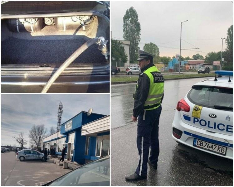 Полицията погна колите с газови уредби в Пловдивско