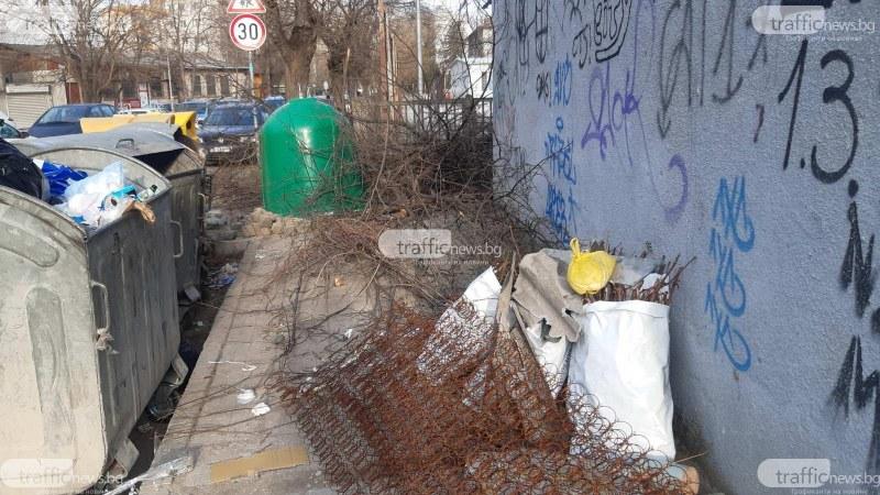 Заринаха с боклуци тротоар в непосредствена близост до пловдивско училище