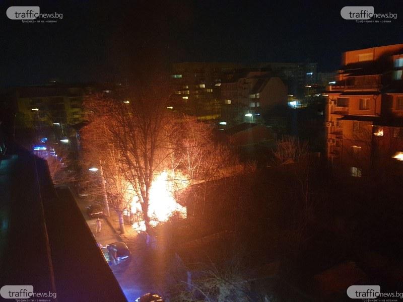 Три екипа на пожарната са гасили пожара в пловдивския квартал Кючук Париж