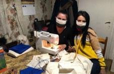Млади жени от Брестовица шият безплатни маски за съселяните си