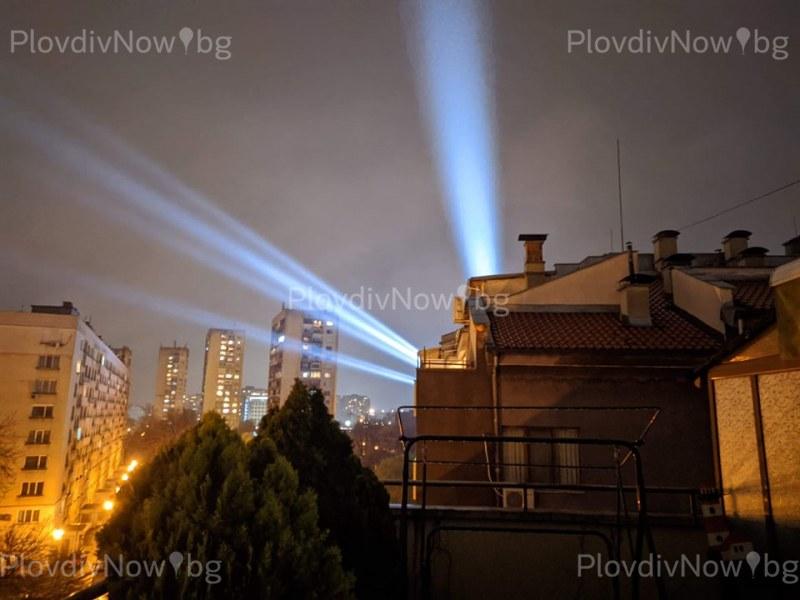 Нощното небе на Пловдив се освети в подкрепа на всички, борещи се с коронавируса