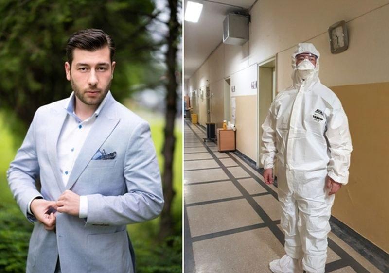 Божидар - един от първите студенти от МУ в Пловдив, станал доброволец в Инфекциозна клиника