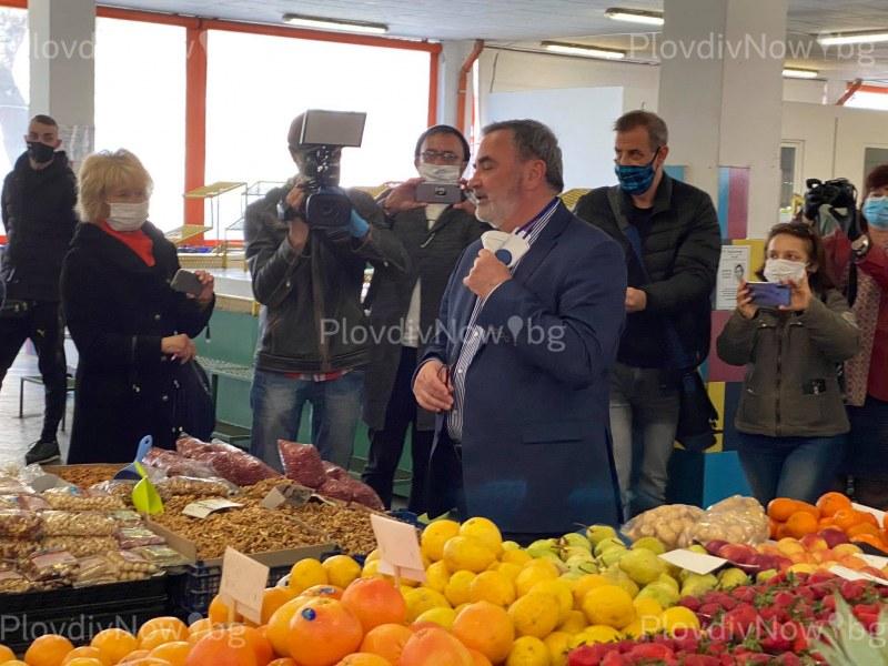 Държавният здравен инспектор провери спазват ли се мерките по пазарите в Пловдив
