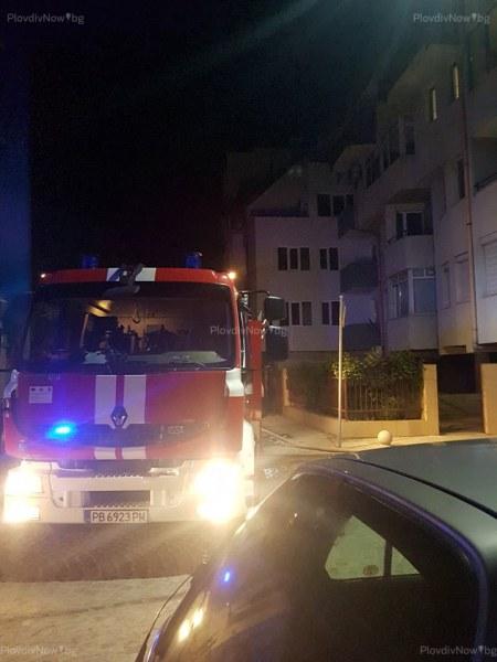 Четирима души откарани в болница след среднощния пожар в центъра на Пловдив