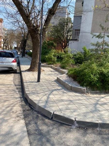 """Нов тротоар и паркинг направиха в пловдивския район """"Северен"""""""