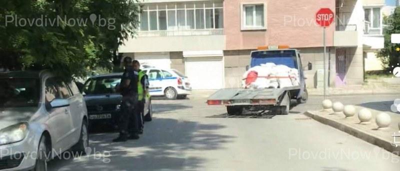 Полицаи претърсиха кола в центъра на Пловдив, има арестуван