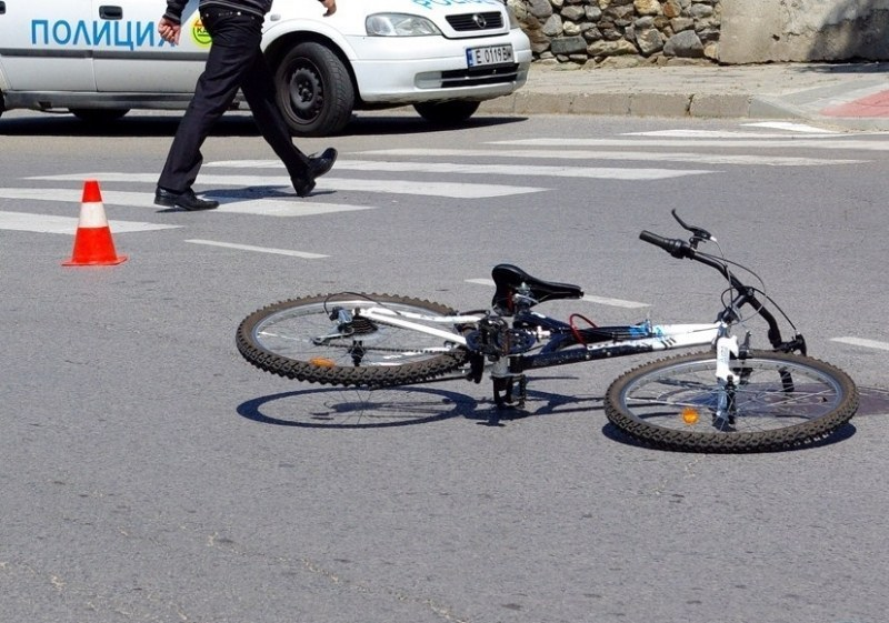 Камион помете колело в Пловдив, вината - на велосипедиста