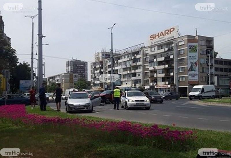 Катастрофа на кръгово кръстовище в Пловдив