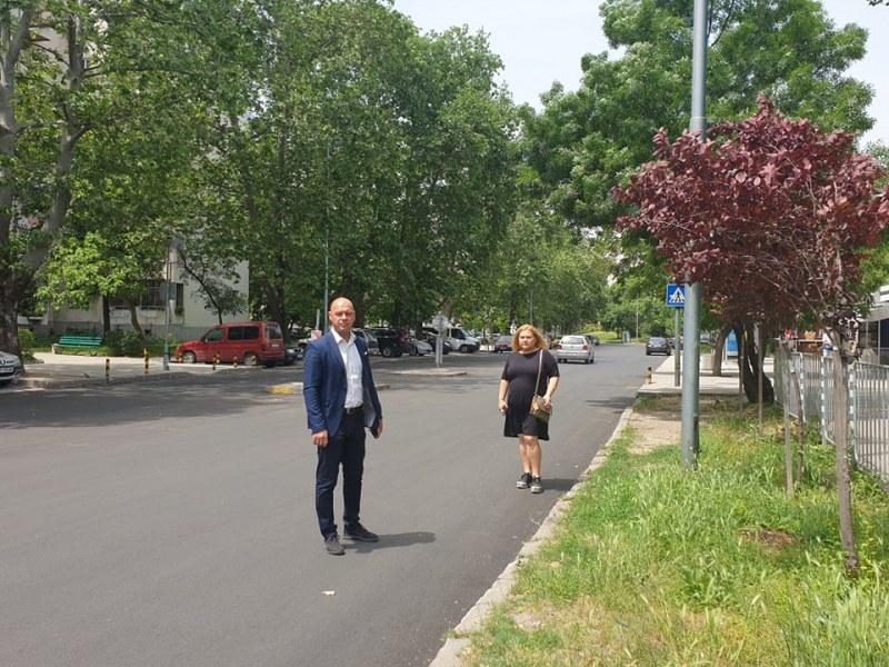"""Ремонтът на улица """"Съединение"""" в Тракия приключи, започна нов"""