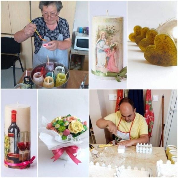 Хора с увреждания от Раковски изработват уникални сапуни и свещи