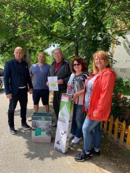 Първи победител в конкурса за най-красива цветна градинка в Тракия