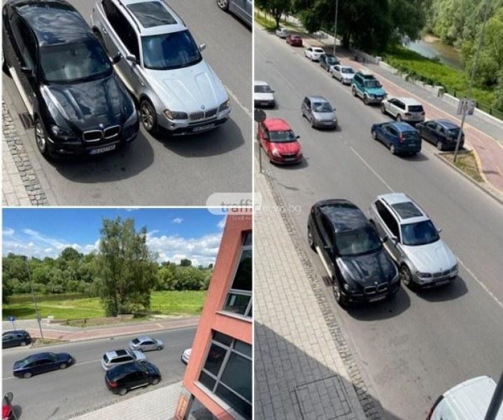 Джип спря в средата на булевард и блокира движението в Пловдив