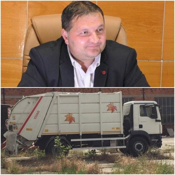 Сметопочистващ камион за четвърт милион стои като паметник в стопанския двор на Калояново