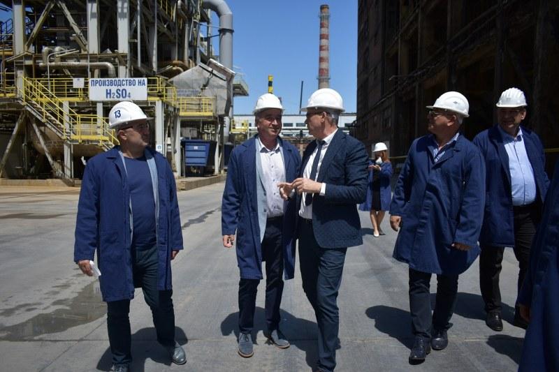 Екоминистърът посети КЦМ, кметът на Асеновград се срещна с него