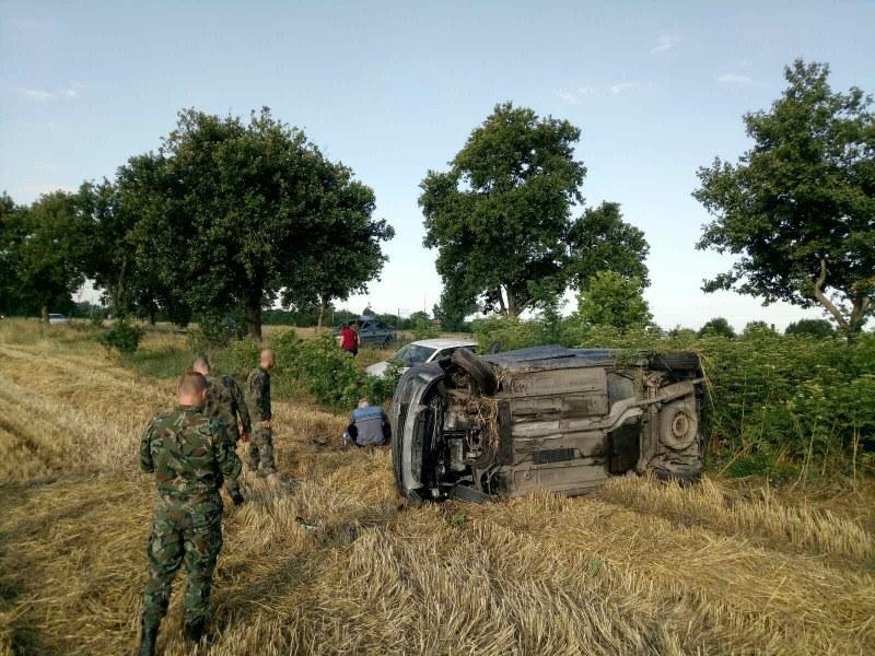Катастрофа край Калояново, военни се притекоха на помощ