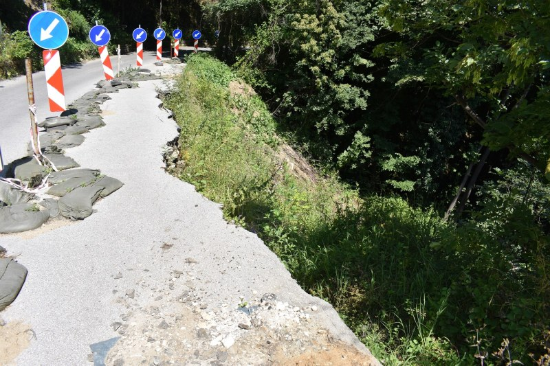 Започна най-сетне укрепването на свлачището на пътя под Асеновата крепост