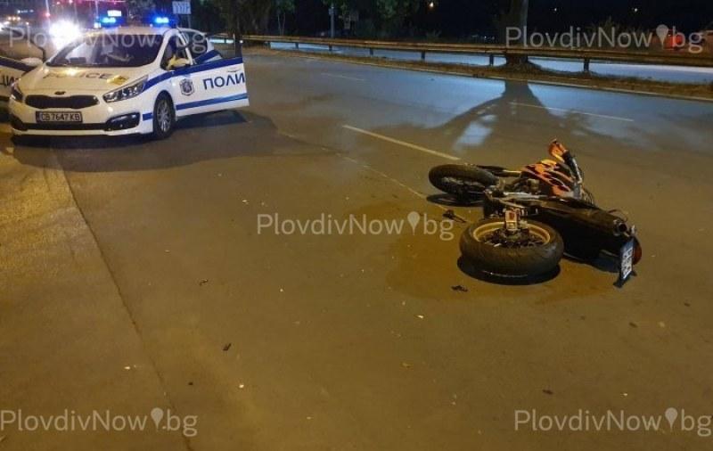 Младеж пострада в Първомай, падна от мотор