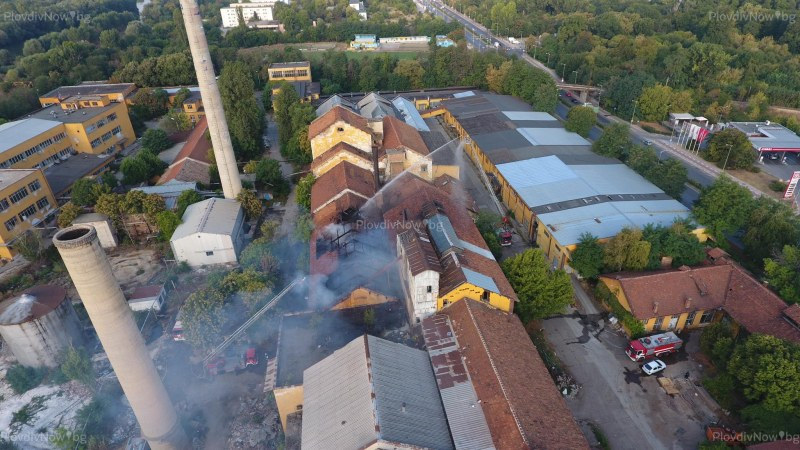 Пловдивската прокуратура разследва пожара в Захарна фабрика