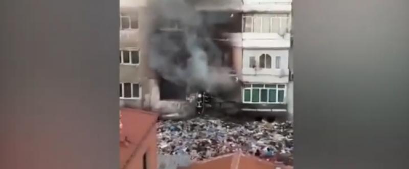 Пожар в Столипиново, запали се апартамент в жилищен блок