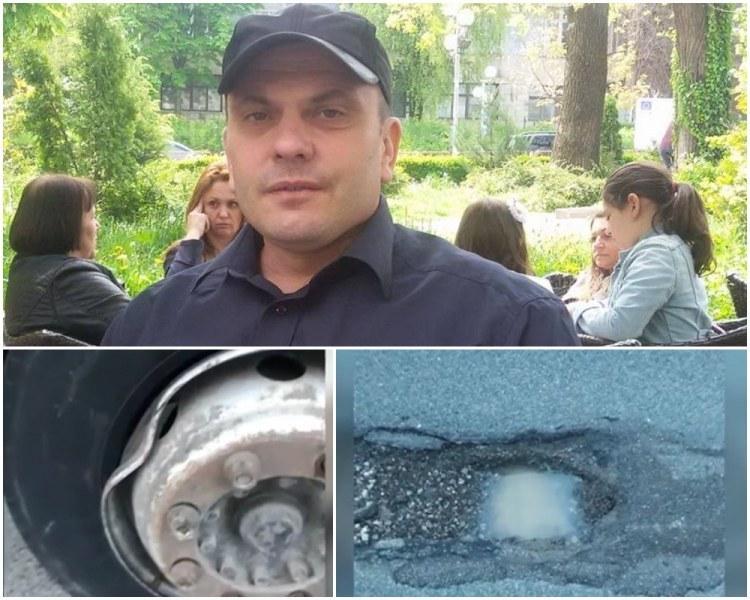 Шофьор за малко да убие 7 души заради дупка на пътя край Пловдив