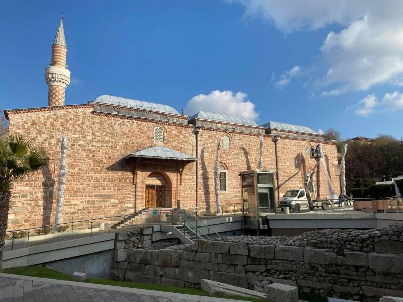 Зазимиха и палмите в Центъра на Пловдив