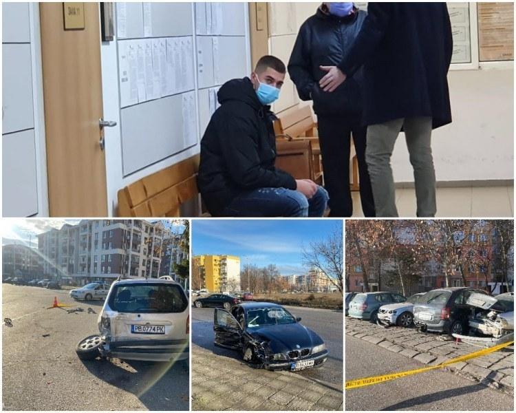 Шофьорът на БМВ-то, помлял 6 коли в Тракия след гонка с полицията, отново на съд