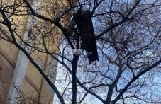 Опасна ламарина застрашава минувачите в центъра на Пловдив