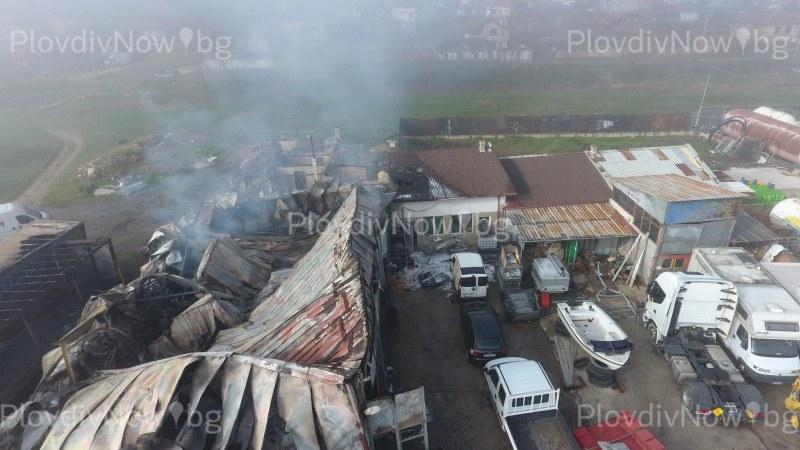 Щети за 150 000 лева след пожара в село Труд